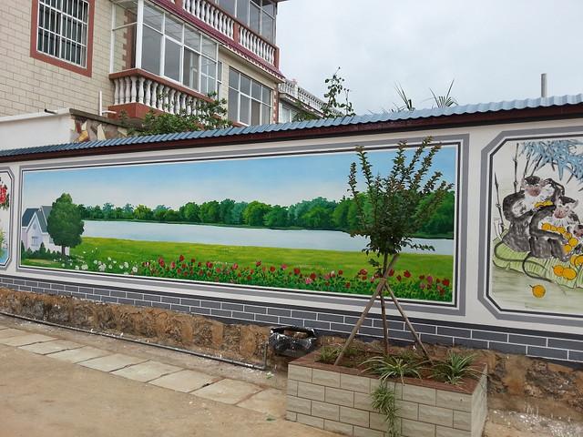手绘墙画公司,文化墙体彩绘公司,文化墙涂鸦