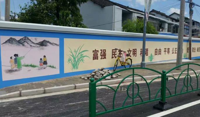 墙体彩绘手绘,手绘地画,喷绘墙体广告公司