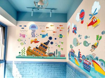 手绘壁画,手工绘画,喷绘墙体广告
