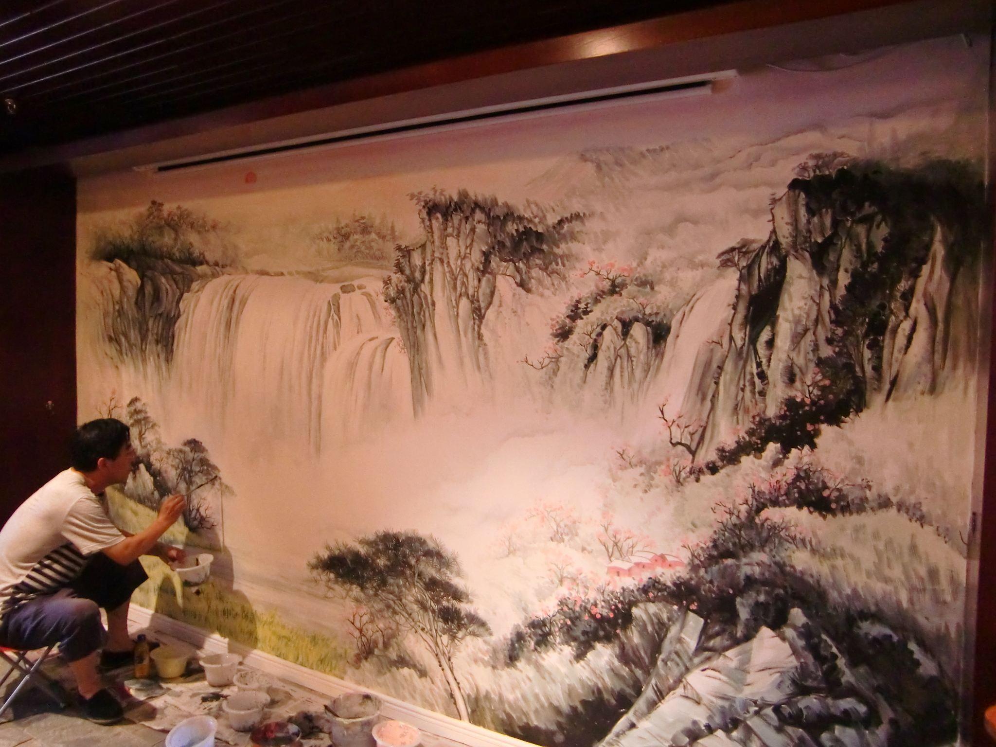 手绘装饰画,涂鸦墙绘,古建彩绘