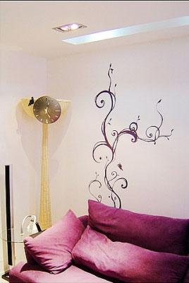 墙绘的的风格要和家庭装饰风格相和谐